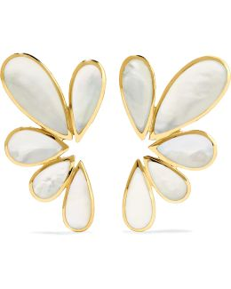 Rock Candy 18-karat Gold Mother-of-pearl Earrings