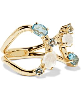 Rock Candy 18-karat Gold Topaz And Moonstone Ring