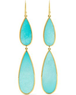 Rock Candy 18-karat Gold Turquoise Earrings