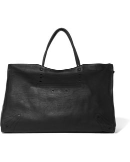 City Blackout Xl Perforated Leather Tote
