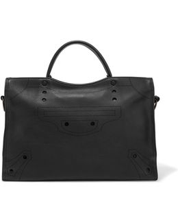 City Blackout Perforated Leather Tote