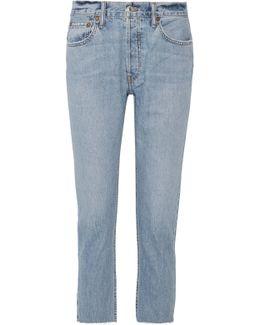 Originals Cropped Frayed Slim Boyfriend Jeans