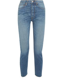 Originals Cropped High-rise Slim-leg Jeans