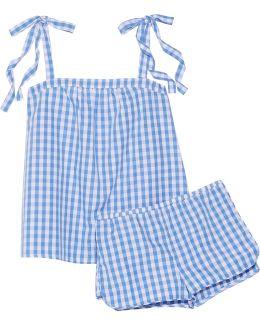 Sadie Gingham Cotton-poplin Pajama Set