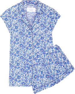 Olivia Floral-print Cotton-poplin Pajama Set