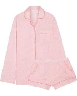 Josephine Printed Cotton-poplin Pajama Set