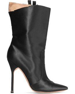 + Manolo Blahnik Cutout Satin Boots
