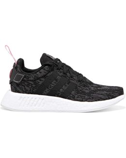 Nmd R2 Leather-trimmed Stretch-knit Sneakers
