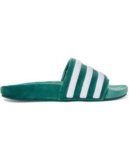 Adilette Velvet Slide Sandals