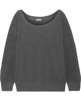 Pigment Cutout Cotton-jersey Sweatshirt