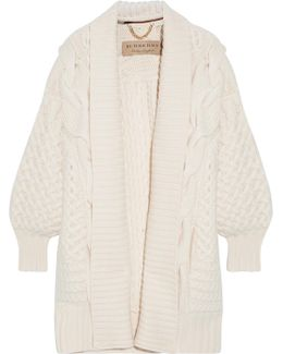 Cable-knit Wool And Cashmere-blend Cardigan