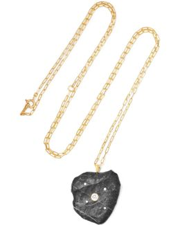 Indus 18-karat Gold, Stone And Diamond Necklace