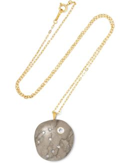 Ramen 18-karat Gold, Stone And Diamond Necklace