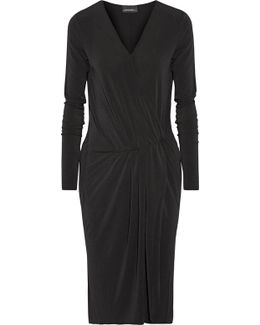 Willos Wrap-effect Stretch-crepe Dress