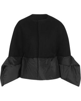 Shell-paneled Wool-blend Gabardine Jacket