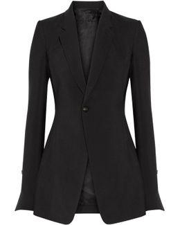 Wool And Silk-blend Blazer