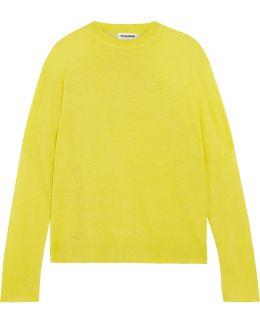 Linen, Cashmere And Silk-blend Sweater