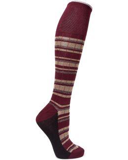 Metallic Striped Cotton-blend Socks