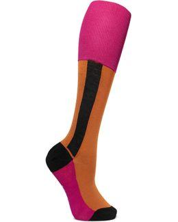 Color-block Cotton-blend Socks