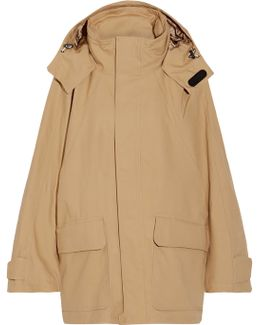 Hooded Cotton-blend Ripstop Parka