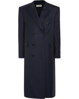 Oversized Checked Wool Coat