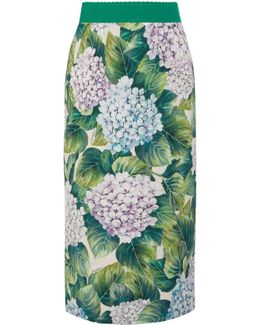 Ortensia Print Pencil Skirt