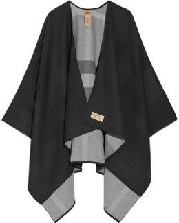 Reversible Checked Merino Wool Wrap