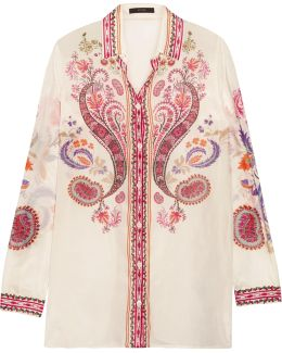Printed Silk And Cotton-blend Shirt