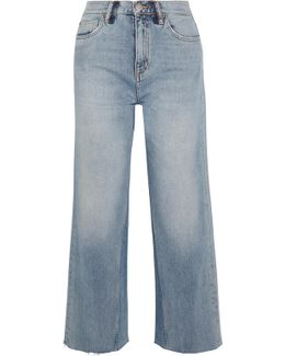 Caron Cropped High-rise Wide-leg Jeans