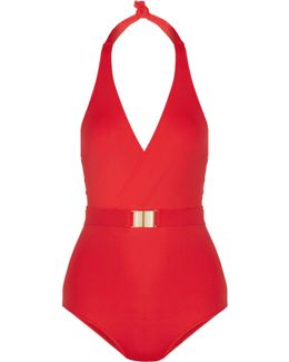Dominica Belted Halterneck Swimsuit