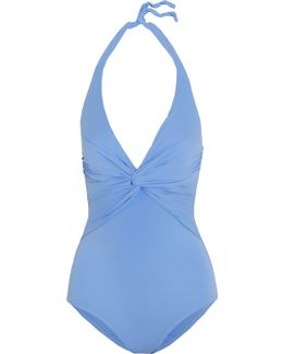Zanzibar Knotted Halterneck Swimsuit