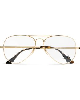 Aviator Gold-tone Optical Glasses