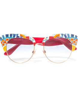 Printed Acetate Sunglasses