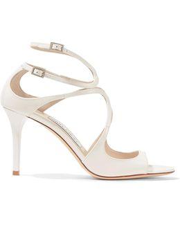 Ivette Cutout Patent-leather Sandals