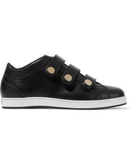 Ny Studded Leather Sneakers