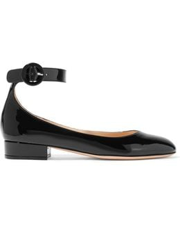 Leather Point-toe Flats