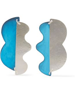 Valentin Oxidized Silver-tone Earrings