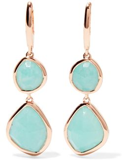 Siren Rose Gold Vermeil Amazonite Earrings