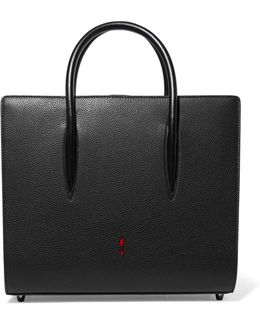 Paloma Medium Spiked Matte And Patent-leather Tote