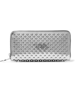 Panettone Spiked Metallic Patent-leather Continental Wallet