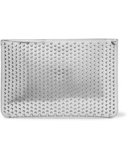 Loubiclutch Studded Mirrored-leather Clutch