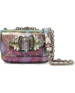 Sweet Charity Embellished Metallic Elaphe Shoulder Bag