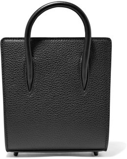 Paloma Nano Textured And Patent-leather Tote