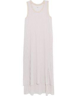 City Stripes Stretch-modal Jersey Nightdress