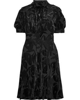 Crystal-embellished Devoré-velvet Dress