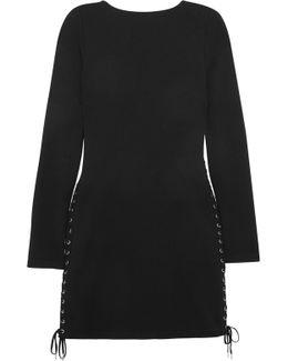 Lace-up Jersey Mini Dress