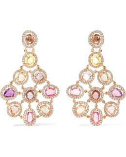 Blossom 18-karat Gold, Sapphire And Diamond Earrings