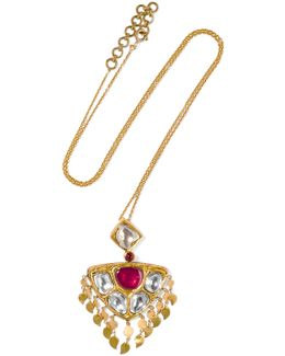 22-karat Gold, Ruby And Diamond Necklace
