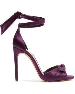 Jessica Bow-embellished Satin Sandals