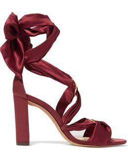 Alessa Lace-up Satin Sandals